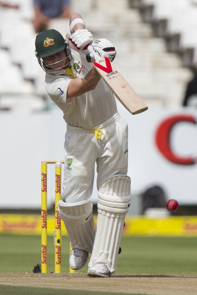 CAPE TOWN, SOUTH AFRICA - MARCH 02:  Steve Smith of Australia bats during day 2 of the 3rd Test match between South Africa and Australia at Sahara Park Newlands on March 02, 2014 in Cape Town, South Africa. (Photo by Manus van Dyk/Gallo Images/Getty Images)