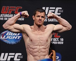 Oct 18, 2013; Houston, TX, USA; CB Dollaway during the weigh-in for UFC 166 at Toyota Center. Mandatory Credit: Andrew Richardson-USA TODAY Sports