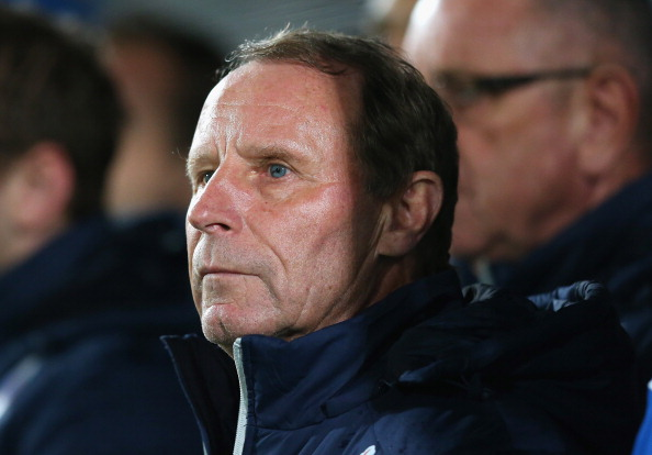 BELFAST, NORTHERN IRELAND - NOVEMBER 14:  Berti Vogts the coach of Azerbaijan looks on during the FIFA 2014 World Cup Group F Qualifying match between Northern Ireland and Azerbaijan at Windsor Park on November 14, 2012 in Belfast, Northern Ireland.  (Photo by Alex Livesey/Getty Images)