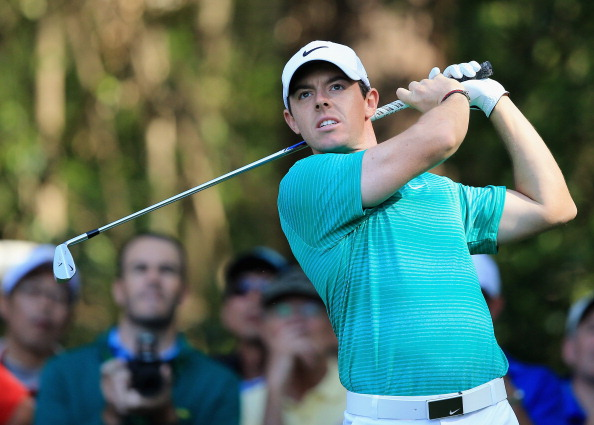 AUGUSTA, GA - APRIL 09:  Rory McIlroy of Northern Ireland hits a shot during the 2014 Par 3 Contest prior to the start of the 2014 Masters Tournament at Augusta National Golf Club on April 9, 2014 in Augusta, Georgia.  (Photo by David Cannon/Getty Images)