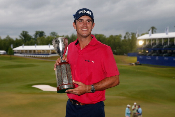 AVONDALE, LA - APRIL 28:  Billy Horschel poses for a photo with the winner's trophy after winning the Zurich Classic of New Orleans at TPC Louisiana on April 28, 2013 in Avondale, Louisiana.  (Photo by Chris Graythen/Getty Images)