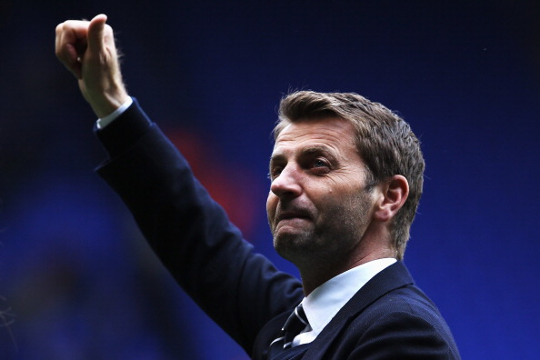LONDON, ENGLAND - MAY 11:  Tottenham Hotspur interim manager Tim Sherwood acknowledges his sides fans following the Barclays Premier League match between Tottenham Hotspur and Aston Villa at White Hart Lane on May 11, 2014 in London, England.  (Photo by Clive Rose/Getty Images)