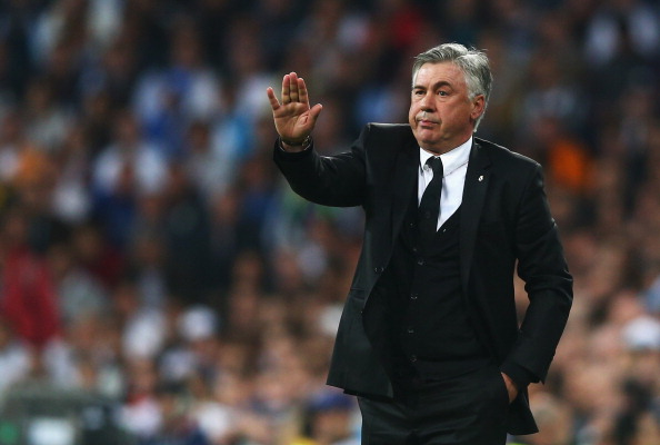 MADRID, SPAIN - APRIL 23:  Carlo Ancelotti, coach of Real Madrid gives instructions during the UEFA Champions League semi-final first leg match between Real Madrid and FC Bayern Muenchen at the Estadio Santiago Bernabeu on April 23, 2014 in Madrid, Spain.  (Photo by Paul Gilham/Getty Images)