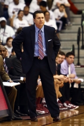 Feb 16, 2013; Bronx, NY, USA; Fordham Rams head coach Tom Pecora on the sidelines against the Butler Bulldogs during the second half at Rose Hill Gym. Butler won 68-63. Mandatory Credit: Debby Wong-USA TODAY Sports