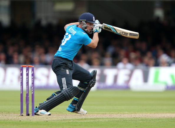 LONDON, ENGLAND - MAY 31:  Jos Buttler of England steers the ball during the 4th Royal London One Day International match between England and Sri Lanka at Lord's Cricket Ground on May 31, 2014 in London, England. (Photo by Jan Kruger/Getty Images)