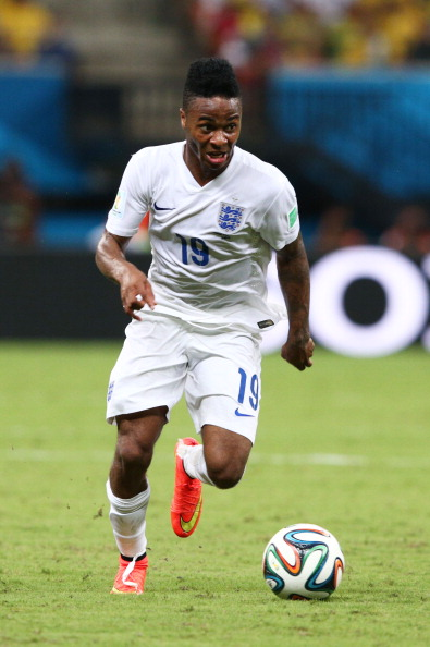 MANAUS, BRAZIL - JUNE 14:  Raheem Sterling of England controls teh ball during the 2014 FIFA World Cup Brazil Group D match between England and Italy at Arena Amazonia on June 14, 2014 in Manaus, Brazil.  (Photo by Adam Pretty/Getty Images)