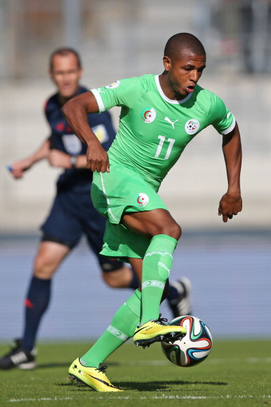 SION, SWITZERLAND - MAY 31: Yacine Brahimi of Algeria controls the ball during the international friendly match between Algeria and Armenia at Estadio Tourbillon on May 31, 2014 in Sion, Switzerland. (Photo by Philipp Schmidli/Getty Images)