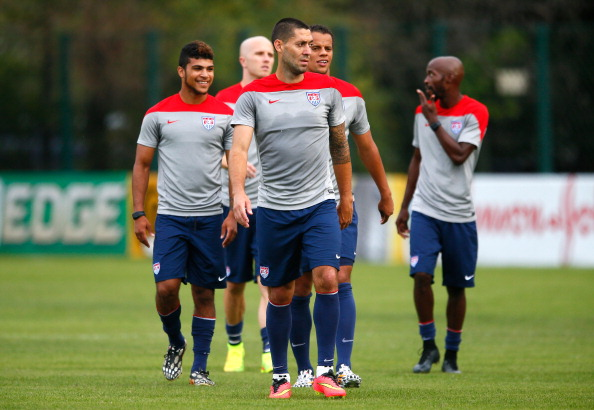 SAO PAULO, BRAZIL - JUNE 28:  Clint Dempsey of the United States works out during training at Sao Paulo FC on June 28, 2014 in Sao Paulo, Brazil.  (Photo by Kevin C. Cox/Getty Images)
