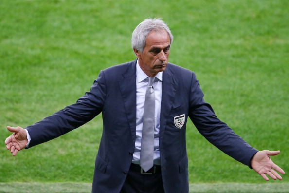 PORTO ALEGRE, BRAZIL - JUNE 30:  Head coach Vahid Halilhodzic of Algeria gestures during the 2014 FIFA World Cup Brazil Round of 16 match between Germany and Algeria at Estadio Beira-Rio on June 30, 2014 in Porto Alegre, Brazil.  (Photo by Clive Rose/Getty Images)