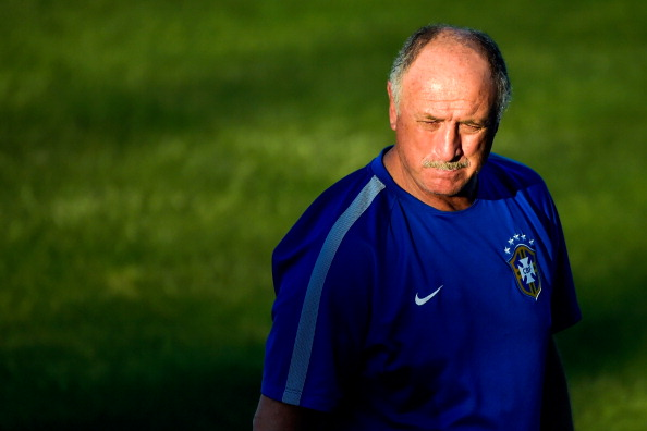 FORTALEZA, BRAZIL - JULY 03:  Head coach Luiz Felipe Scolari looks on  during a training session at the President Vargas stadium on the eve of the FIFA World Cup 2014 quarter-final match between Brazil and Colombia in Fortaleza on July 3, 2014 in Fortaleza, Brazil.  (Photo by Buda Mendes/Getty Images)