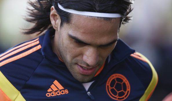 BUENOS AIRES, ARGENTINA - MAY 31: Radamel Falcao of Colombia looks on before the International Friendly Match between Colombia and Senegal at Pedro Bidegain Stadium on May 31, 2014 in Buenos Aires, Argentina. (Photo by Gabriel Rossi/Getty Images)