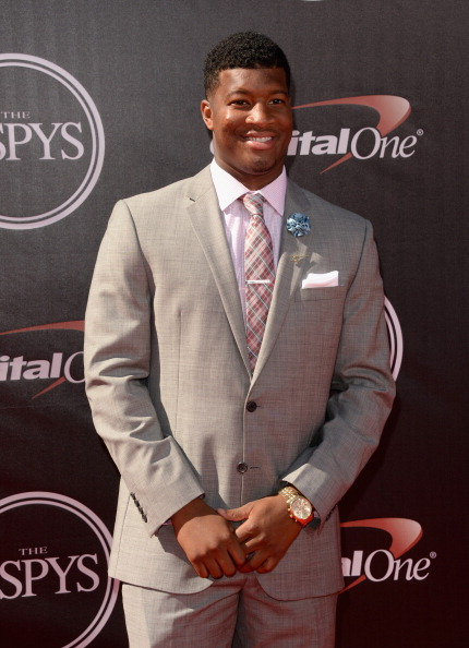 LOS ANGELES, CA - JULY 16: College football player Jameis Winston attends The 2014 ESPYS at Nokia Theatre L.A. Live on July 16, 2014 in Los Angeles, California.  (Photo by Jason Merritt/Getty Images)