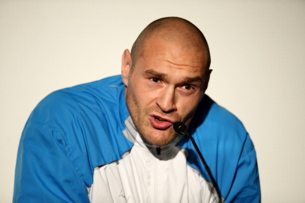 LONDON, ENGLAND - JULY 14:  Tyson Fury speaks during a press conference to announce the upcoming fight between Dereck Chisora And Tyson Fury on July 14, 2014 in London, England.  (Photo by Jordan Mansfield/Getty Images)