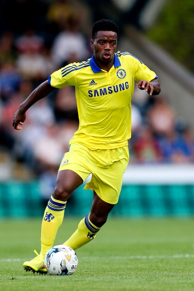 HIGH WYCOMBE, ENGLAND - JULY 16:  Nathaniel Chalobah of Chelsea in action duing the pre season friendly match between Wycombe Wanderers and Chelsea at Adams Park on July 16, 2014 in High Wycombe, England.  (Photo by Ben Hoskins/Getty Images)