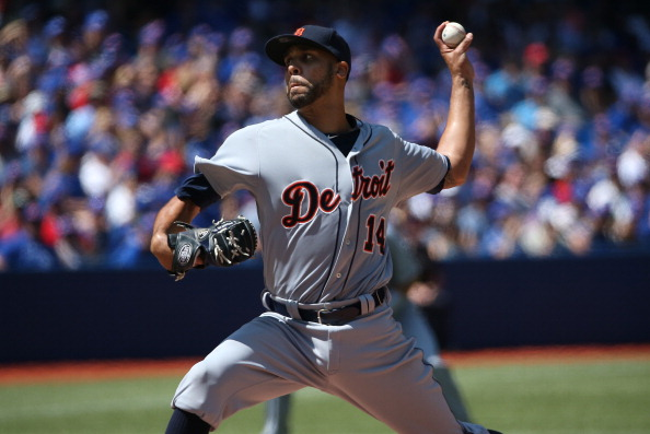 TORONTO, CANADA - AUGUST 10: David Price #14 of the Detroit Tigers delivers a pitch in the first inning during MLB game action against the Toronto Blue Jays on August 10, 2014 at Rogers Centre in Toronto, Ontario, Canada. (Photo by Tom Szczerbowski/Getty Images)