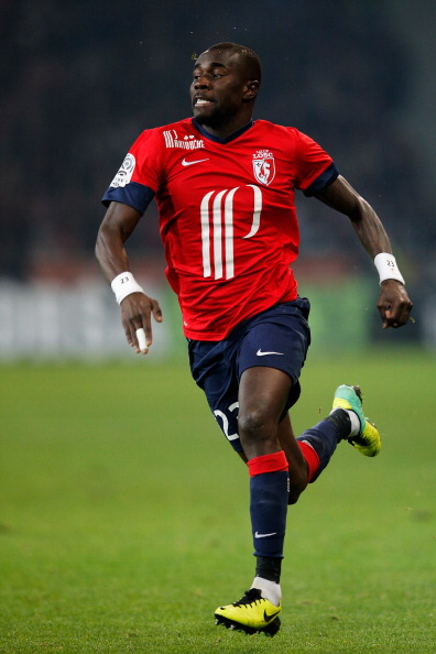 LILLE, FRANCE - DECEMBER 03:  Pape N'Diaye Souare of Lille in action during the Ligue 1 match between LOSC Lille and Olympique de Marseille held at Stade Pierre-Mauroy on December 3, 2013 in Lille, France.  (Photo by Dean Mouhtaropoulos/Getty Images)