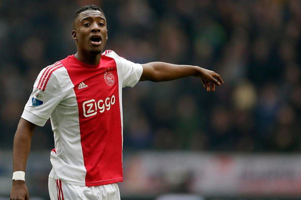 Riechedly Bazoer of Ajax during the Dutch Eredivisie match between Ajax Amsterdam and Feyenoord Rotterdam at the Amsterdam Arena on February 07, 2016 in Amsterdam, The Netherlands(Photo by VI Images via Getty Images)