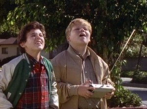"""With Fred Savage on """"The Wonder Years""""."""