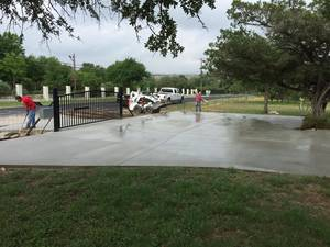 Concrete drive job