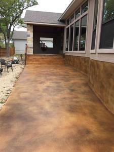 Concrete stain and seal job1