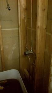 Bathroom reno   shower plumbing