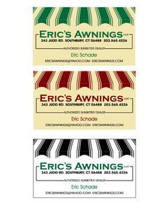 Erics awnings biz card