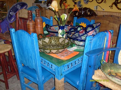 rustic furniture at mexican craft u0026 pottery inc image a