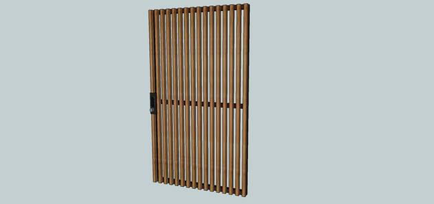 Contemporary wood and metal gate (1)