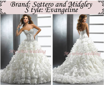 My white wedding sottero and midgley evangeline