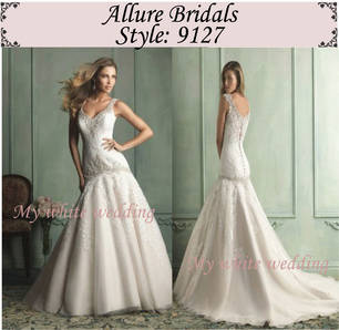 My white wedding allure bridal 9127