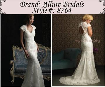 My white wedding allure bridal 8764
