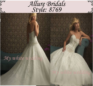My white wedding allure bridal 8769