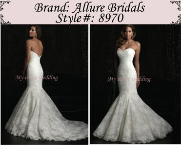 My white wedding allure bridal 8970