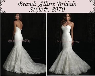 My white wedding allure bridal 8970