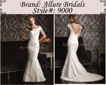 My white wedding allure bridal 9000