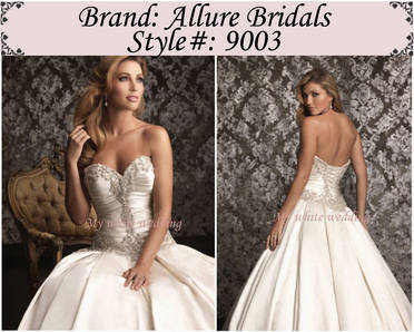 My white wedding allure bridal 9003