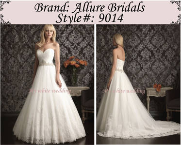 My white wedding allure bridal 9014