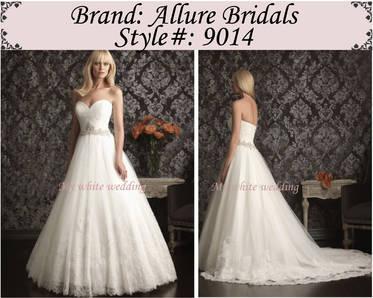 My white wedding allure bridal 9014