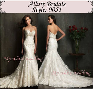 My white wedding allure bridal 9051