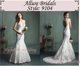 My white wedding allure bridal 9104