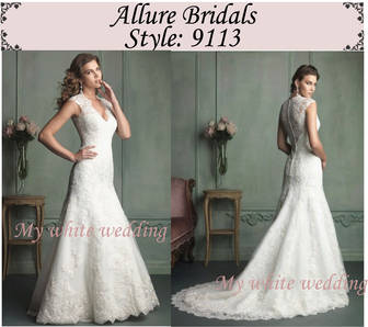 My white wedding allure bridal 9113