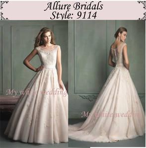 My white wedding allure bridal 9114