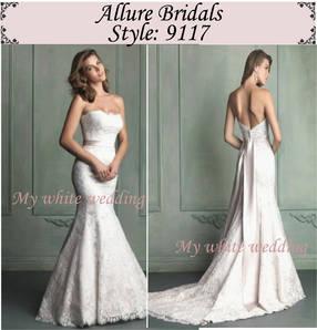 My white wedding allure bridal 9117