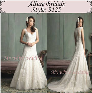 My white wedding allure bridal 9125