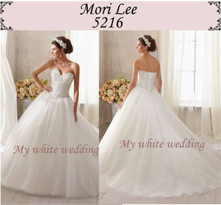 My white wedding mori lee 5216