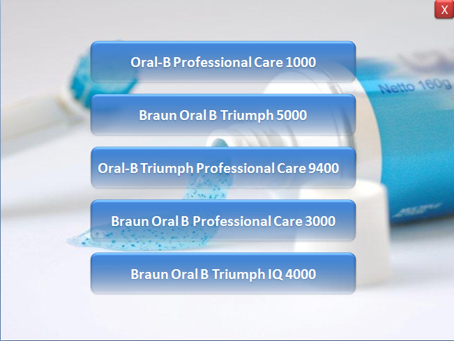 Braun Electric Toothbrush screenshot