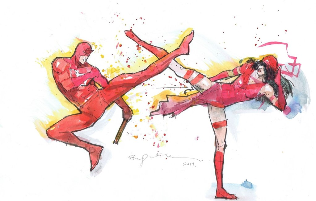 Daredevil Vs Elektra - By Bill Sienkiewicz