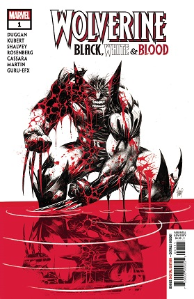 Wolverine Black White Blood #1 cover
