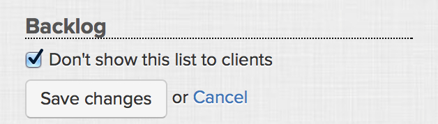 Don't show task lists to client