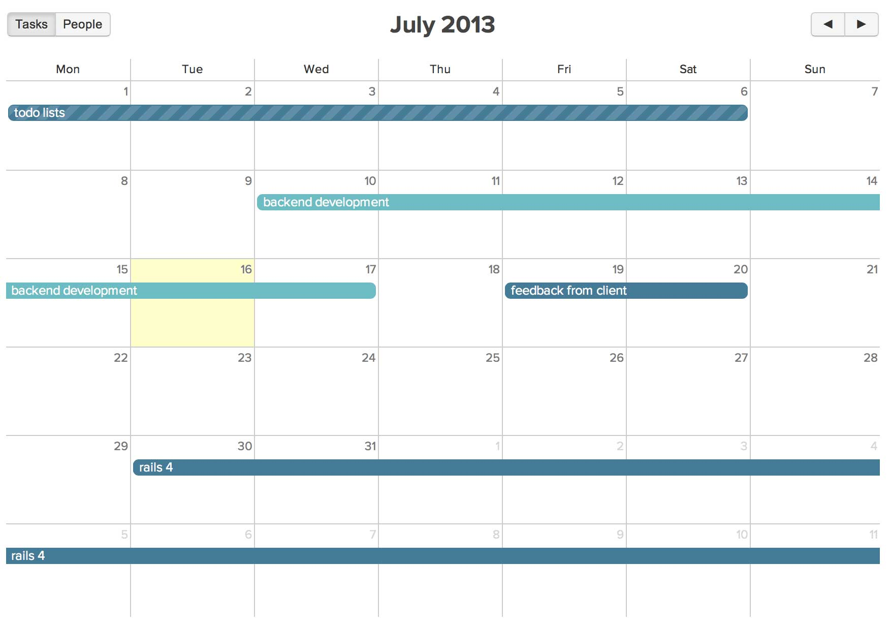 Calendars and resource management.